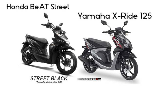 Honda BeAT Street VS Yamaha X-Ride 125