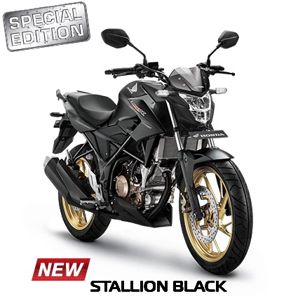 New Honda CB150R Streetfire Special Edition Warna Stallion Black 2017