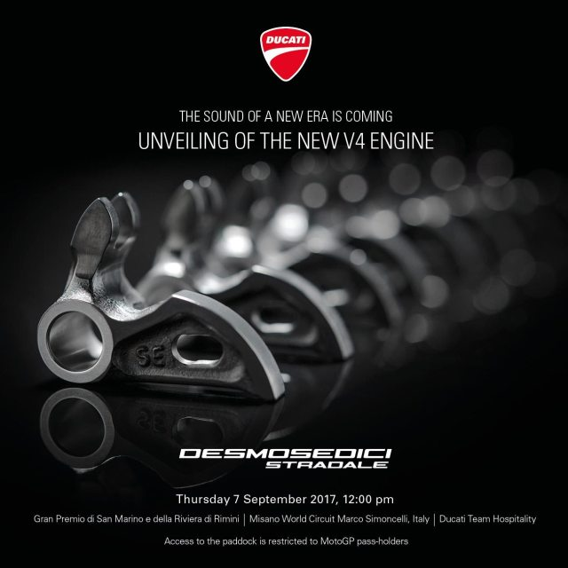 Launching Ducati Panigale V4 Desmosedici Stradale Engine Misano (1)