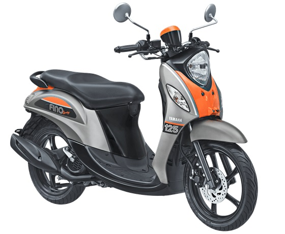 Yamaha NEW FINO 125 BLUE CORE - SPORTY BAN LEBAR & TUBELESS warna pump grey