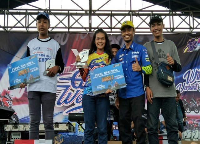 Juara 1,2,3 final nasional Yamaha Goes to School Safety Riding Competition