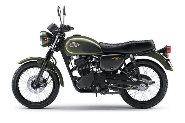 Kawasaki W175 Special Edition Warna Metallic Matte Covert Green