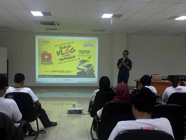 Suasana Workshop Vlog Competition di Area