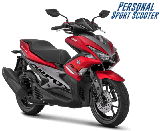 Yamaha Aerox 155 VVA facelift 2018 Warna Merah Red