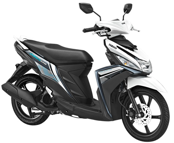 Yamaha Mio M3 125 versi 2018 Warna putih Awesome White