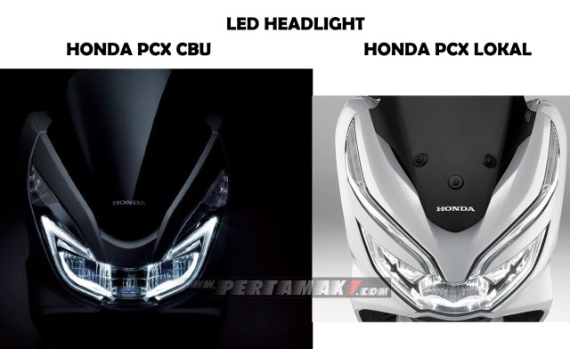 Headlamp Honda PCX 153 CBU Vietnam VS Honda PCX 150 Lokal Indonesia