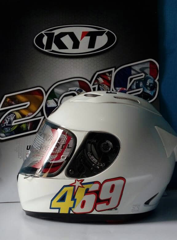 KYT RC7 Flat Visor Clear chazrib custome