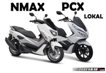 Komparasi Honda PCX 150 Lokal VS Yamaha NMAX 155 VVA Versi 2018 Close Up