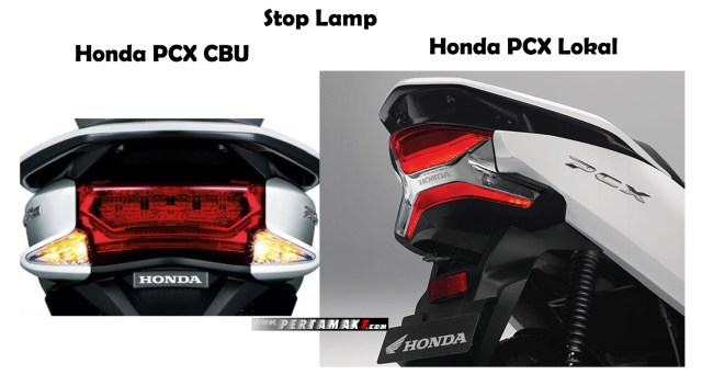 Tail Light Stop Lamp Honda PCX 153 CBU Vietnam VS Honda PCX 150 Lokal Indonesia