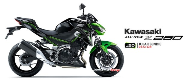Kawasaki All New Z250 Facelift Julak Sendie Design