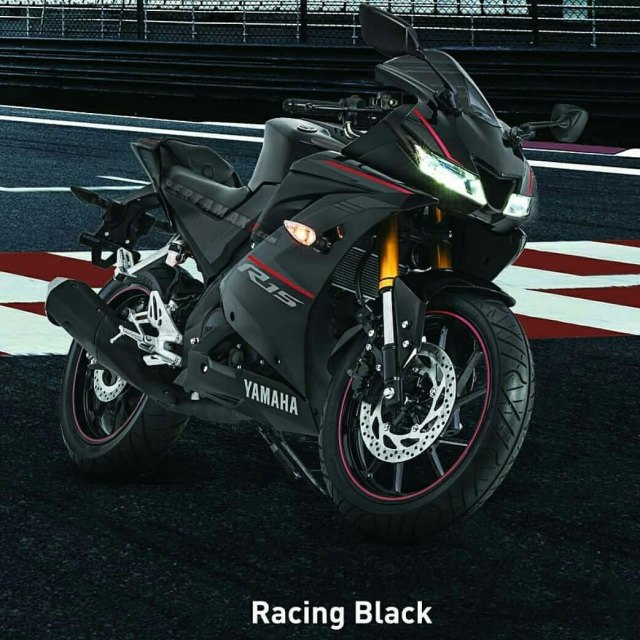 Yamaha All new R15 Warna Hitam racing Black 2018