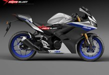 Render Yamaha All New R25 Ala MotoBlast ala R1M