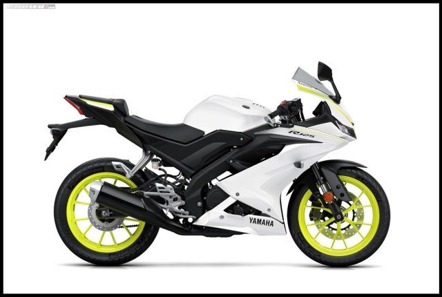 Yamaha All New R125 MY 2019 Warna Putih Competition White Right Side P7