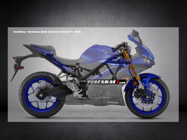 Frame Yamaha New R25 Facelift 2019 Upside Down