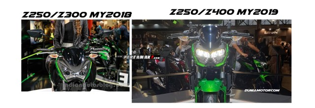 Headlamp Kawasaki Z250 Versi 2019 VS Z250 OLD