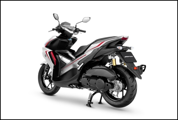 Detail Yamaha Aerox Connected Silver Red Thailand