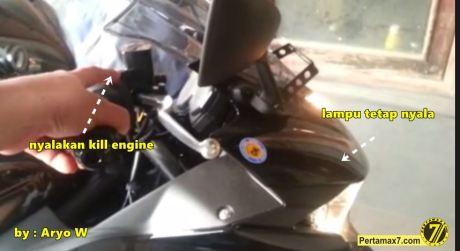 headlamp yamaha R25 tetap nyala saat engine switch off