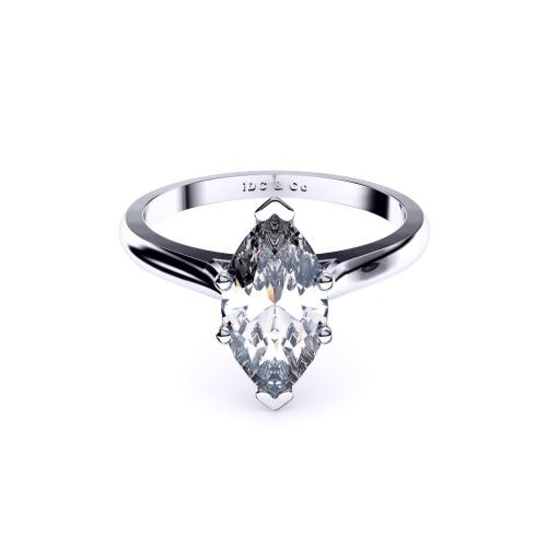 Perth diamond company classic marquise diamond ring front page view
