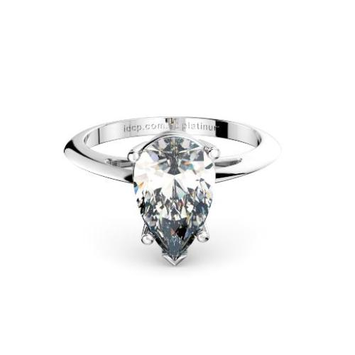 Perth diamond company classic pear diamond ring front page view