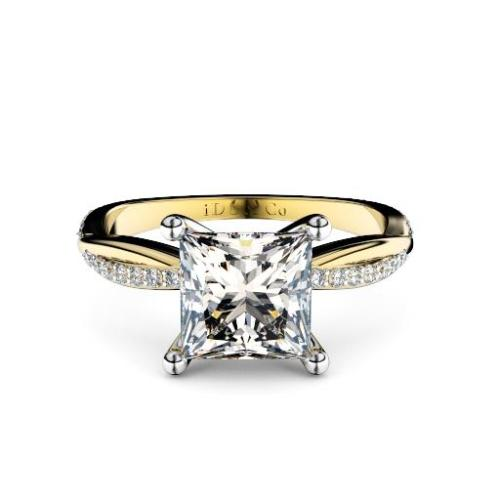 Perth diamonds engagement ring princess cut diamond with diamond twist band