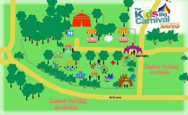 Kids big carnival map