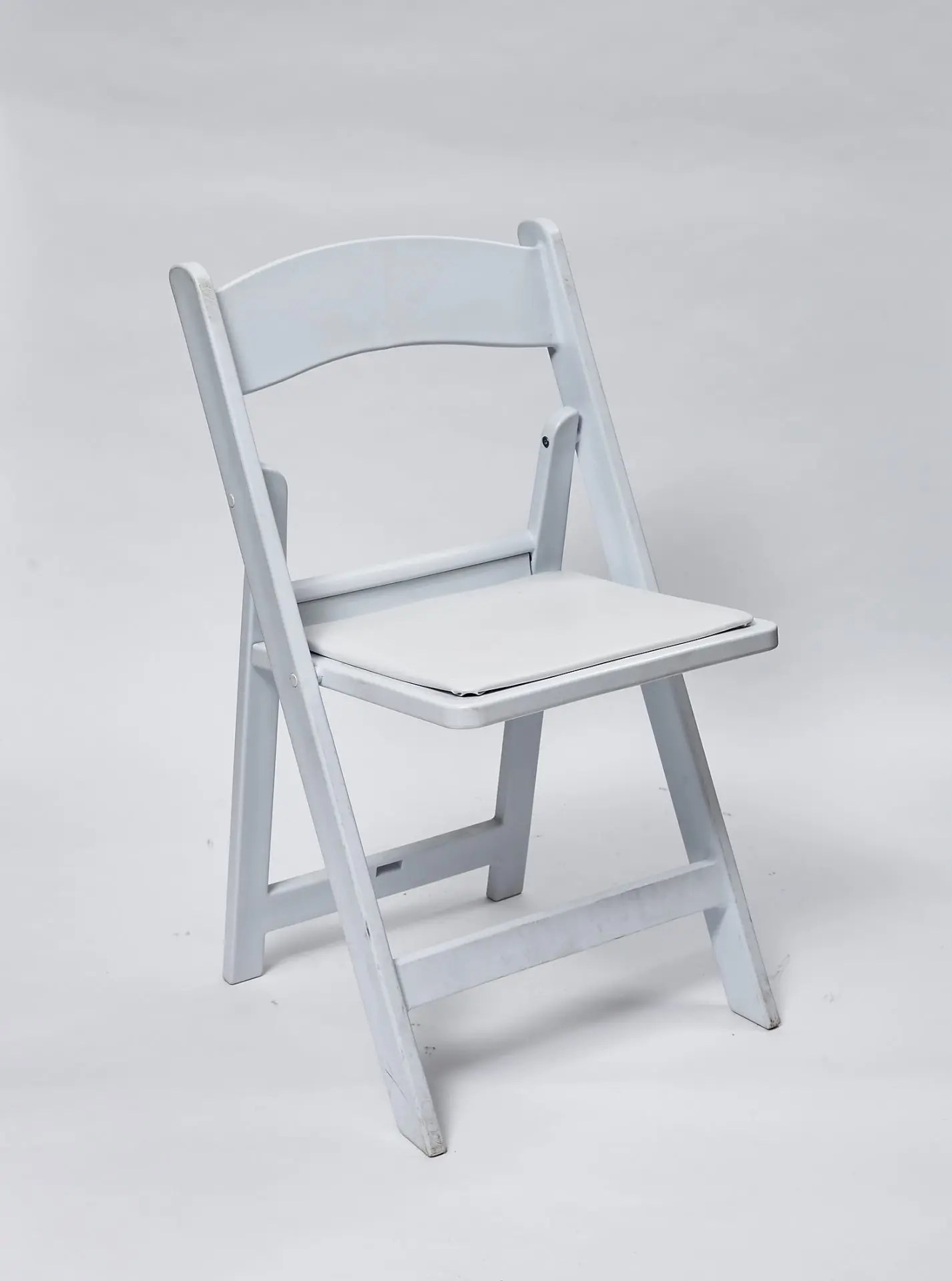 Folding White Chairs Chair Folding White Padded Perth Party Hire