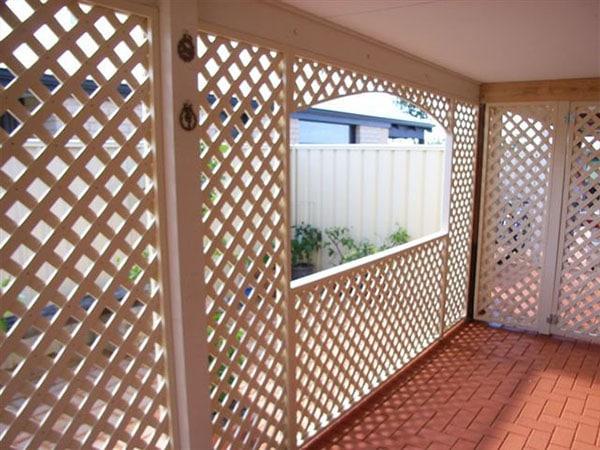 lattice screen fencing perth
