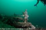 Deck handrail of the Glamire Wreck at Saint Abbs Head