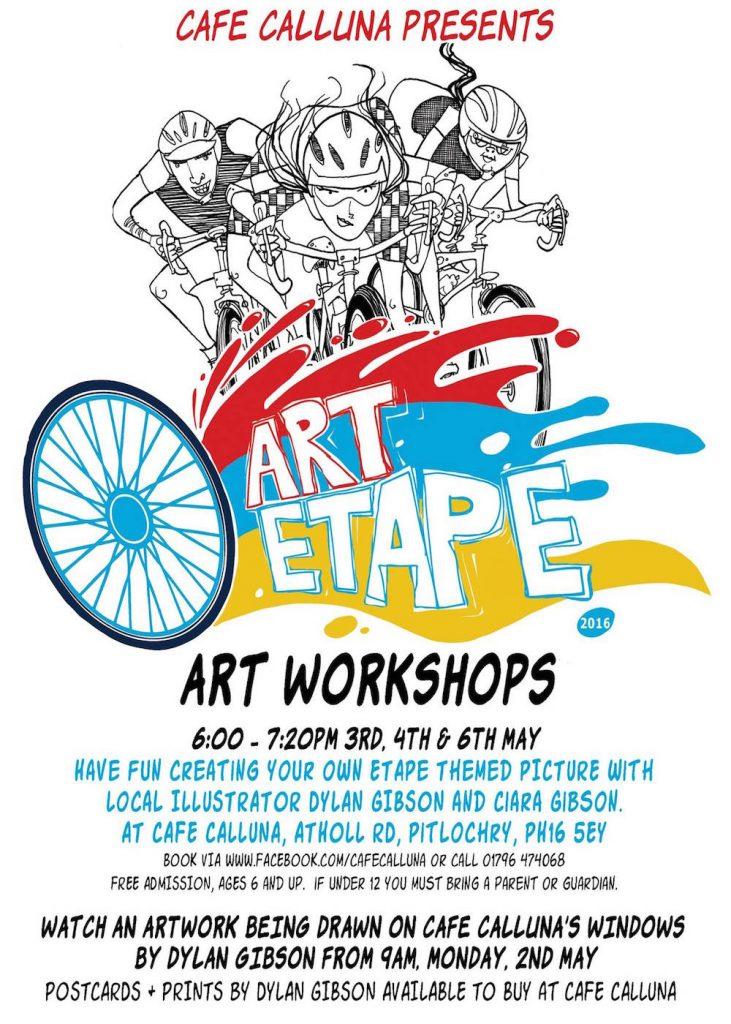 Dylan Gibson Art Workshops - Art Etape