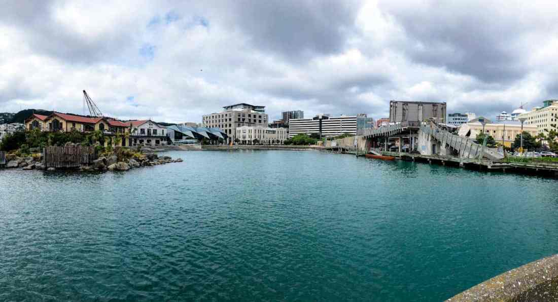 City to Sea Bridge and whairepo lagoon