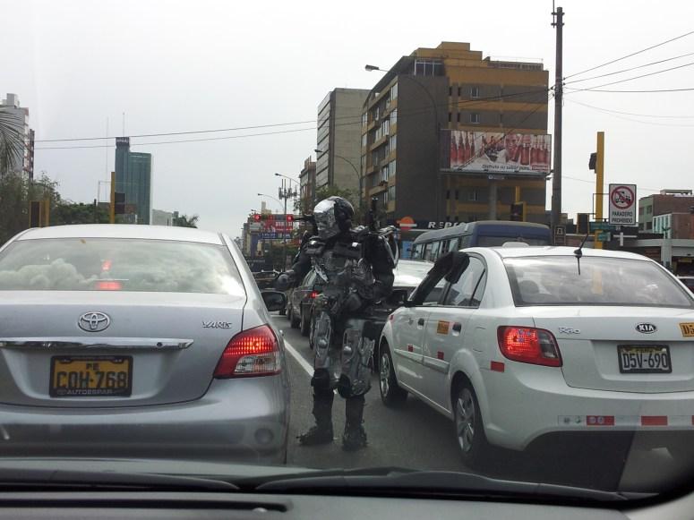 Peruvian Robocop in Lima Centro