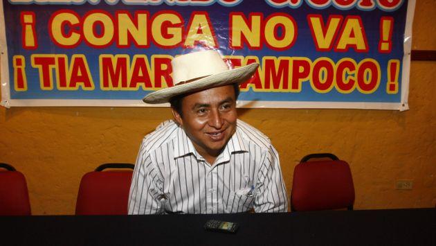Santos acumula una serie de acciones violentas como consecuencia de sus actividades antimineras. (Heiner Aparicio)