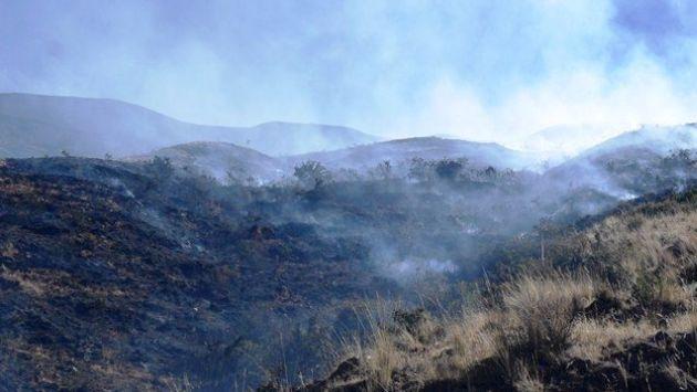 HUAYHUASH. Incendios afectaron la zona paisajística del nevado. (Difusión)