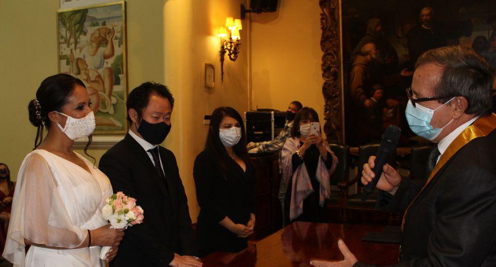 Kenji Fujimori se casó esta tarde en Miraflores. GEC