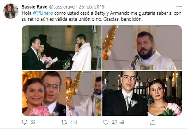 The Twitter user who asked the priest who married Betty and Armando.  (Photo: Sussie Rave / Twitter)