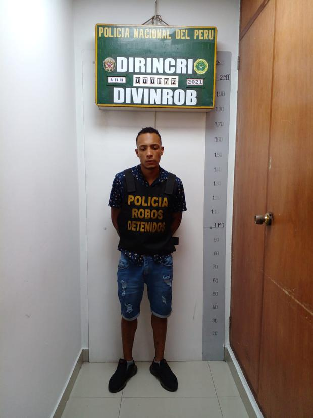 Luis Fernando Paz (27), 'Parcero' . (PNP)