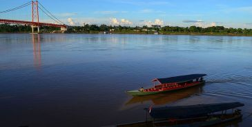 panoramic view of the Madre de Dios river