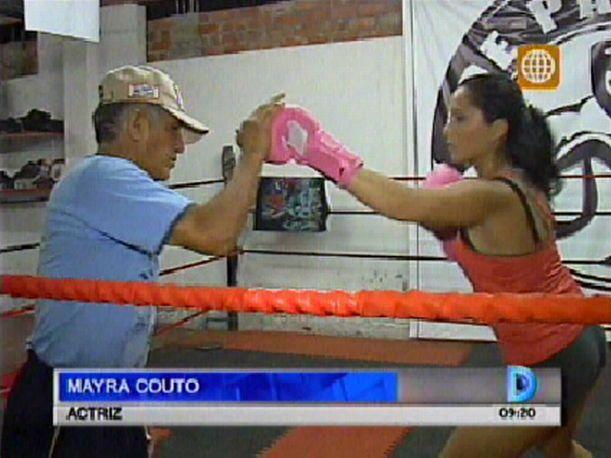 Mayra Couto cambia la actuación por el boxeo en sus vacaciones (VIDEO)