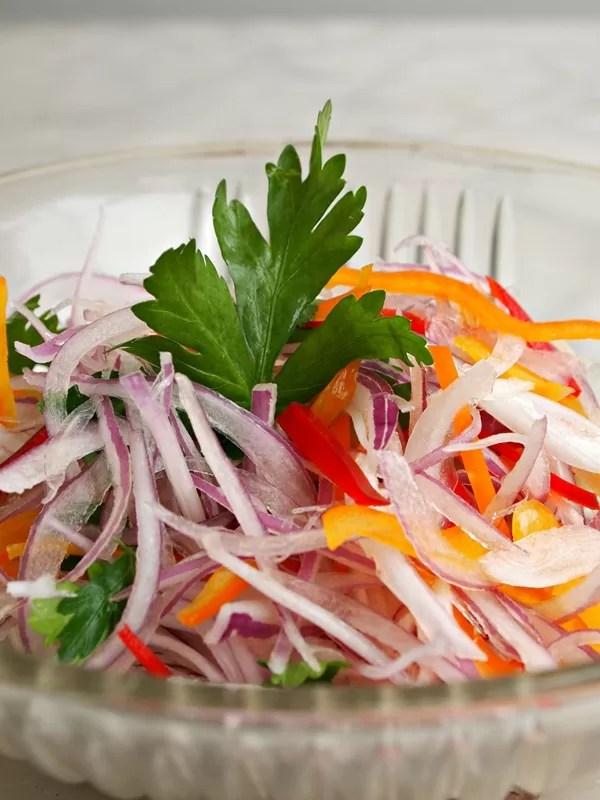 Salsa Criolla Recipe Receta  PERU DELICIAS  PERU DELIGHTS