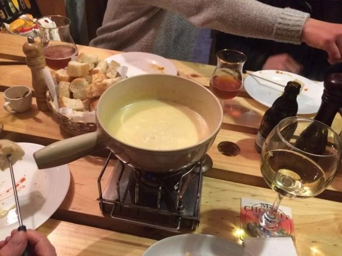 Fondue de queso Suizo