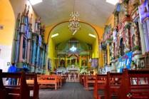La iglesia Matriz de Aija en su interior de día
