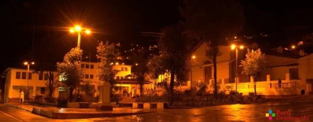 Plaza de la Provincia de Aija de Noche