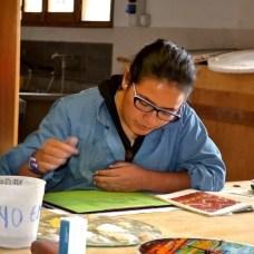 Mujeres artesanas de don Bosco en Chacas, trabajos en vidrio