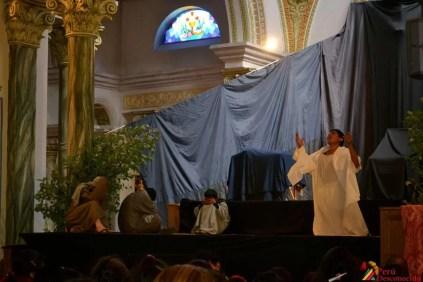 Escenificación por Semana Santa en Ancash