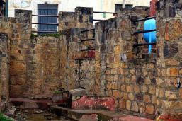Muros construidos al rededor de Paccha-San Luis