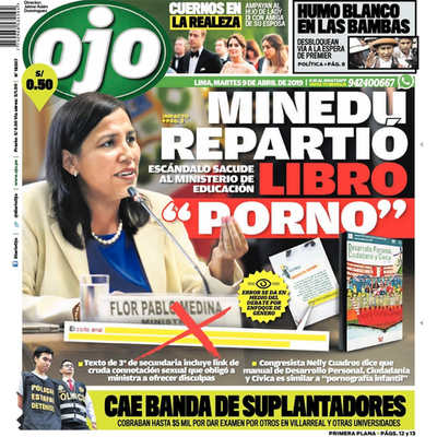 Portada fake news del diario ojo.