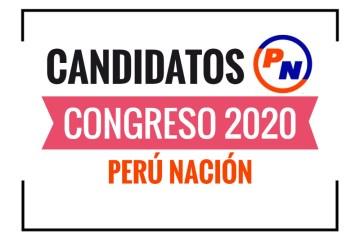 Candidatos al Congreso Perú Nación2020