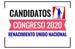 Candidatos al Congreso Renacimiento Unido Nacional 2020