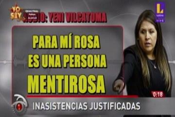 Yeni Vilcatoma: Rosa Bartra es muy mentirosa
