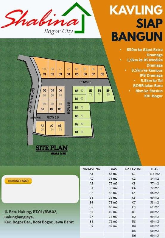 Shabina Bogor City Site Plan